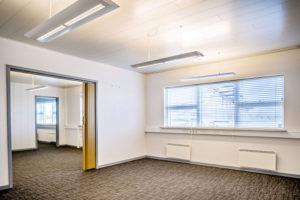 Her er et lukket kontor i Voxeværket Padborg